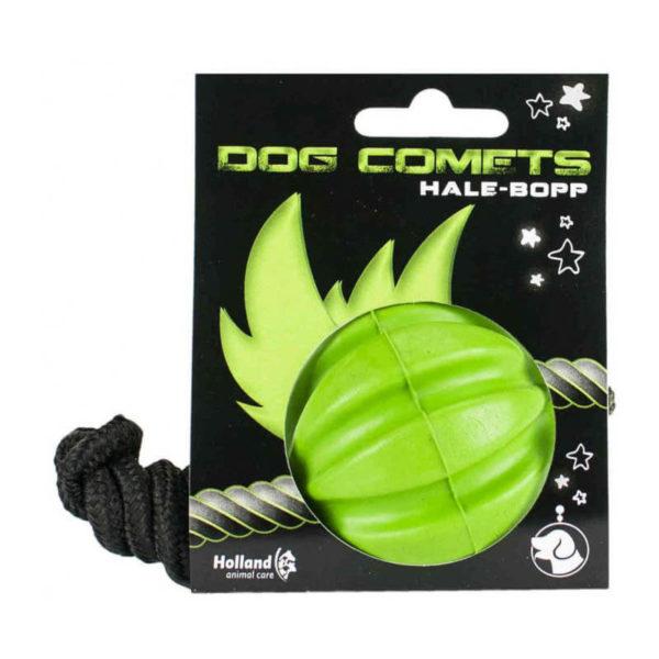 pallina-corda-singola-100-gomma-naturale-verde-per-cani