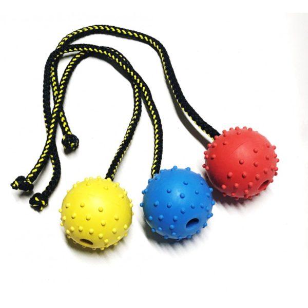 pallina-corda-singola-gomma-gialla-diam-60-mm
