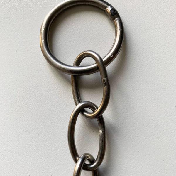 collare ovalina in acciaio ultra leggero dett